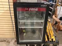 Black and gray commercial refrigerator