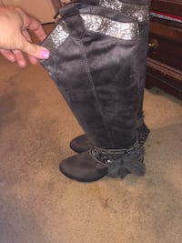 Suede gray boots Killeen, 76549
