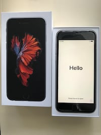 Space gray iphone 6s in box