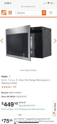 "24"" whirlpool stove and Haier microwave stainless steel Allentown, 18102"