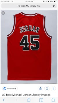 red and white Chicago Bulls Michael Jordan 23 jersey shirt Lafayette, 47909