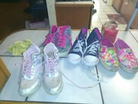 4 pairs of girls shoes size 2