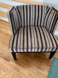 Really cool velour upholstered accent chair