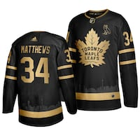 Auston Matthew Custom Black/Gold Toronto Maple Leafs Skyline Jersey Vaughan, L4L 0G4