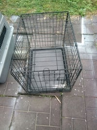 black metal folding dog crate Arlington, 22204