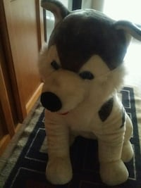 white and black dog plush toy Lanham, 20706