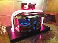 Neon ceramic Diner sculpture by Jerry Barta collectible Los Angeles, 90066