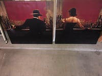 Two large canvas paintings. Sold as a pair.  West Chester, 19382