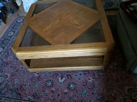 Wood and Glass Coffee Table with 2 end Tables Anchorage, 99518