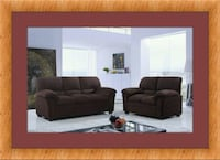 Chocolate microfiber sofa and loveseat free delive Temple Hills