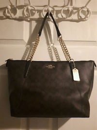 Coach purse brown and black with gold handles Barrie, L4N 9K5