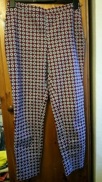 white, red and black pattern trousers RG2, RG2
