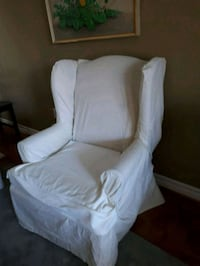 Wing chair with brand new cotton slip cover Vaughan, L6A 1Y4