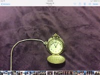 gray and white analog pocket watch null, N0E 1H0