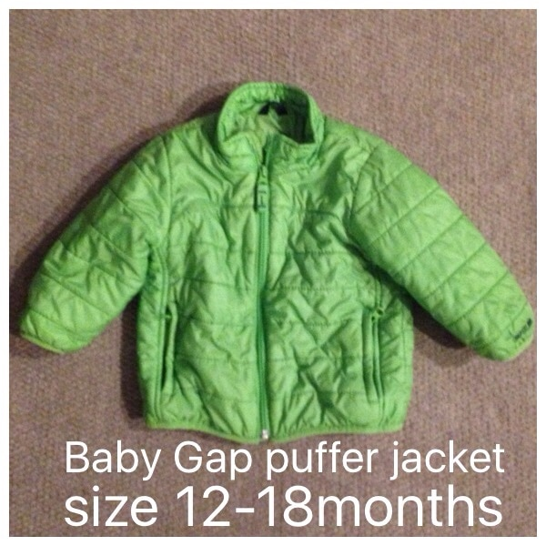 37f25a9023329 Used Baby Gap puffer style jacket infant size 12-18 months for sale in  Dallas - letgo