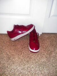 pair of red Nike low-top air force ones Phoenix, 85041