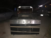 stainless steel and black gas grill Farmers Branch, 75234