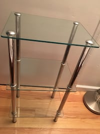 Stainless steel base glass top table West Babylon, 11704