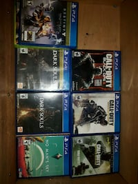six assorted PS4 game cases Kelowna, V1X 2Y6