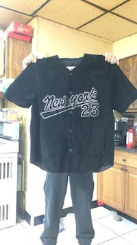 black New York 23 baseball jersey shirt Troy, 12180