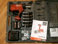 red and black Milwaukee cordless power drill with case Delta, V4C 3H1