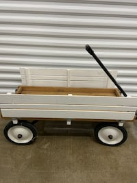 Red rider wagon (painted white)