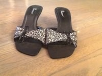 Pair of black open-toe ankle strap sandals size 6 Saskatoon, S7M 3N5
