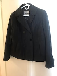 Wool & Polyester Blend Charcoal Grey Jacket Vancouver, V6B 2W1
