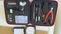 red and black hand tool set