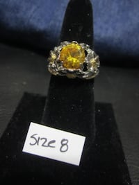 3.5ct CITRINE Ring - 925 Silver Gold Jewelry Earring Necklace Etc Rockford