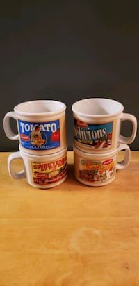two white and red ceramic mugs Charles Town, 25414