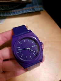 round purple analog watch with blue strap Fairfax, 22030
