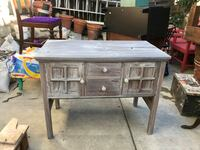 Antique shabby chic sideboard hutch