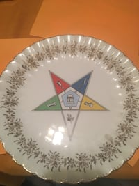 Collectible Eastern Star plate and ashtray