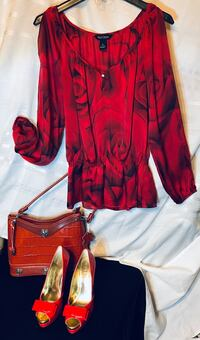 Beautiful Blouse by WHBM & Matching Shoes by Jessica Simpson