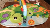 Baby's blue and multicolored activity gym