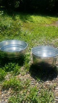 Two patio drink tubs.