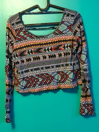 Aztec Cropped Long Sleeve Shirt Toronto