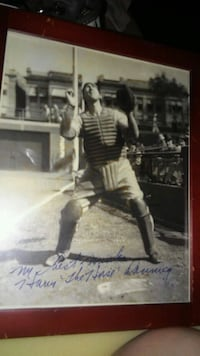 Signed photo of Harry danning Elkhart