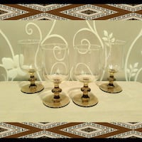 SET OF 4 VINTAGE BROWN STEM WINE GLASSES Ontario, 91762