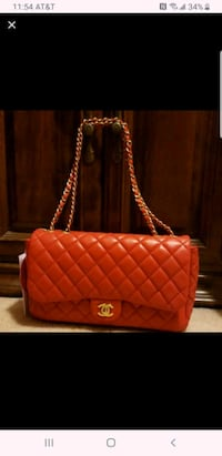 Authentic Chanel Large lambskin red Fairfax, 22030