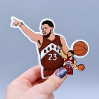 Fred VanVleet pin and stickers