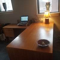 Solid Oak Wood Desk Washington