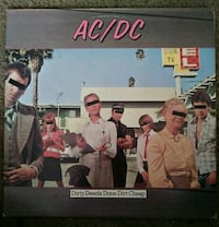 Used AC/DC Vinal Record, Dirty Deeds Done Cheap Lincoln, 95648