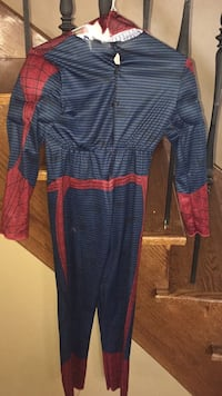Spiderman Halloween costume with mask and gloves