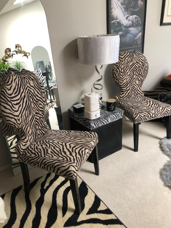 Used Zebra Dining Room Chairs For