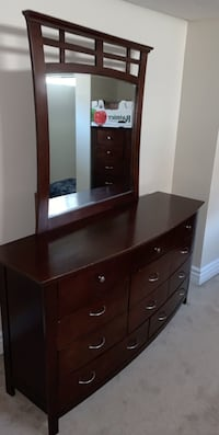 brown wooden dresser with mirror Edmonton, T5Y