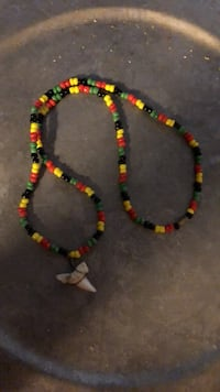Shark tooth necklace from beads Austin, 78757