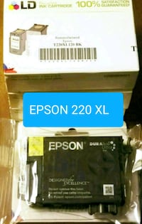 5 Black ink cartridges for Epson 220 xl
