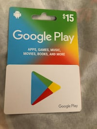 15$ for 10$ google play card . Never used  Las Vegas, 89107